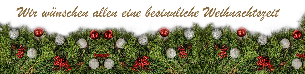 Wir wünschen allen eine besinnliche Weihnachtszeit