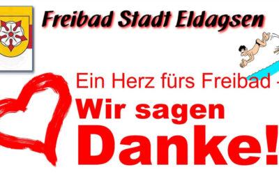 Freibad Stadt Eldagsen e.V. sagt Danke